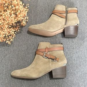 Coach Pauline Nubuck Leather Ankle Booties